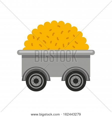 cart farm wagon icon vector illustration design