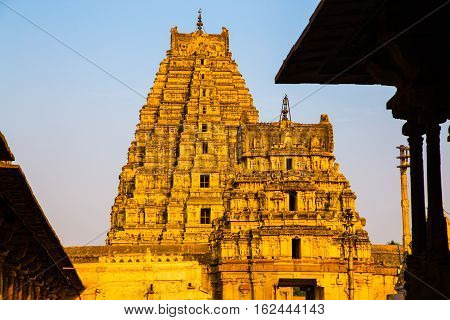Religious palace in Hampi, Unesco heritage site, India