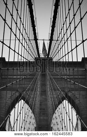 View of Brooklyn Bridge, Brooklyn, New York