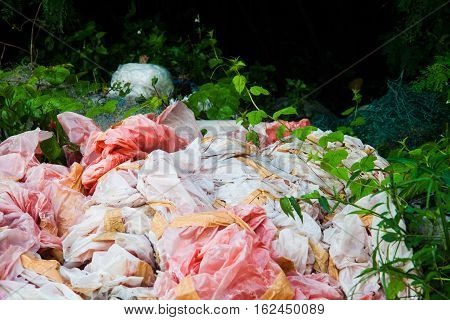 Dump site photo for promotion of recycle project for better environment