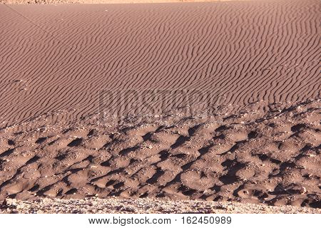Sand Textures at the Valley of the Moon in Chile's Atacama Desert