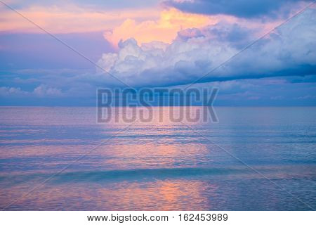Colorful sky in sunset pastel color style
