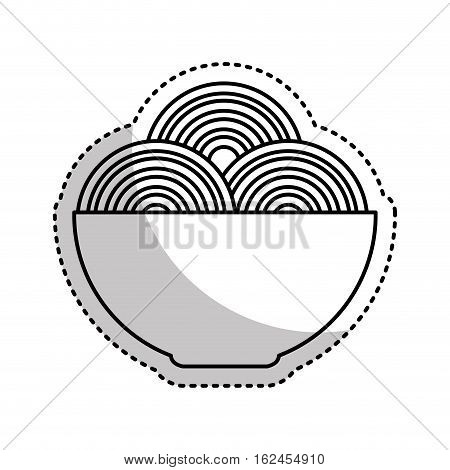 spaguetti dish isolated icon vector illustration design
