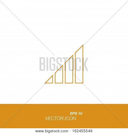 Signal Icon In Line Style Isolated On White Background.