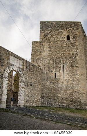 Old and picturesque castle in the small town of Melfi, Italy