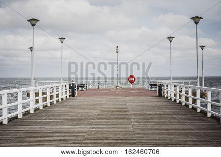 old Pier in City Gdansk - Poland