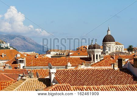 A view of the old city of Dubrovnik in Croazia