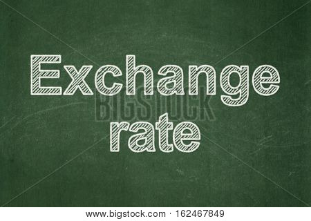 Banking concept: text Exchange Rate on Green chalkboard background
