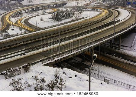 South Junction, Veliko Tarnovo, Bulgaria, Eastern Europe, winter