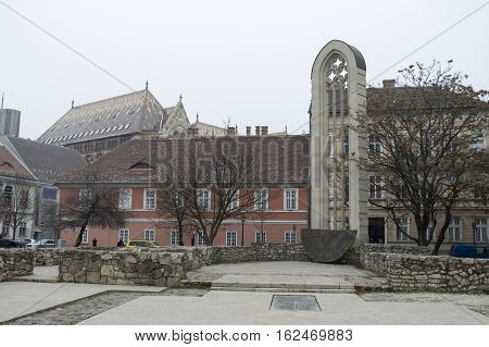 Budapest, tower of church of saint Mary Magdalene
