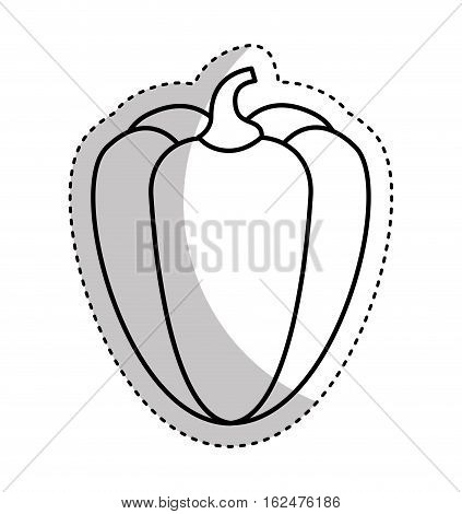 peppers fresh vegetable isolated icon vector illustration design