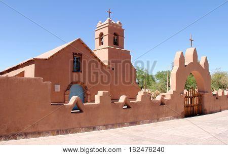 Church of San Pedro de Atacama in Chile's Atacama Desert