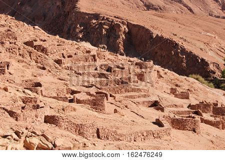 Pukará de Quitor:  A fortification built by the Atacameno people in the 12th century located in Chile's Atacama Desert.