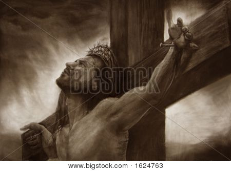 Art Jesus Portcross Sepia