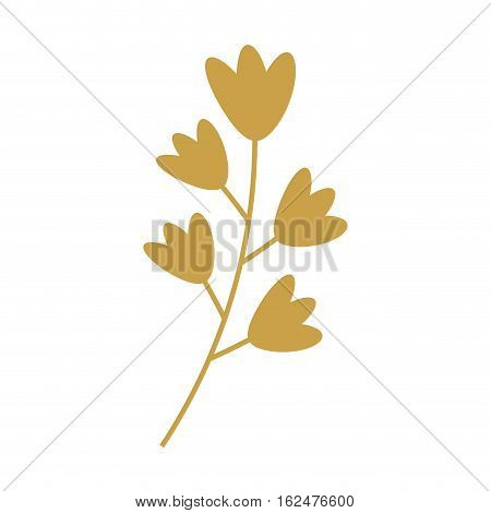 leafs gold decorative icon vector illustration design