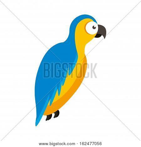 parrot tropical bird icon vector illustration design
