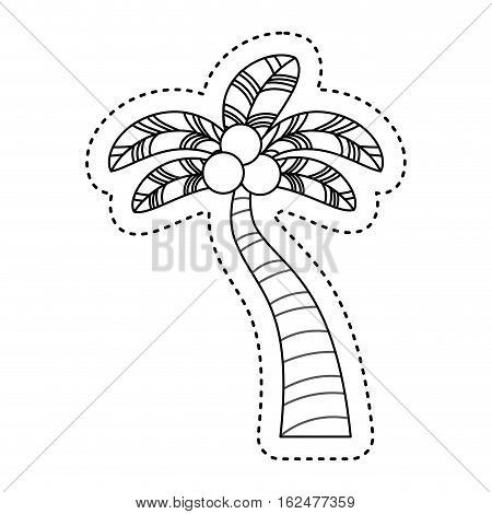tree palm tropical icon vector illustration design