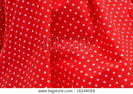 closeup of a red flamenco dress, typical of Spain