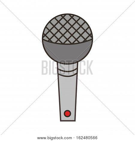 microphone sound device icon vector illustration design