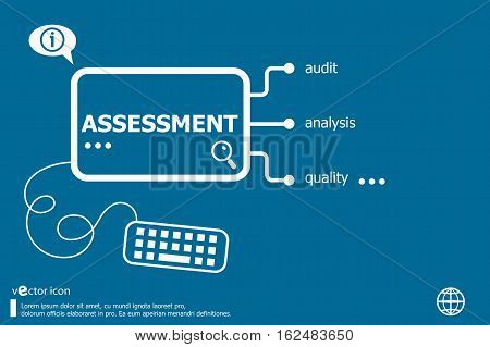 Assessment Related Words Concept.