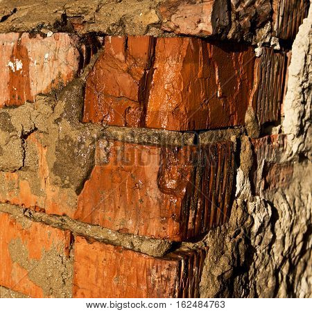 Brick, brick wall texture, brick wall background. Grunge wall. Grunge brick background.
