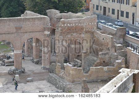 Ruins at the Forum Romanum in Rome