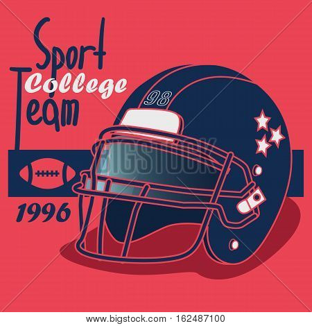 american football and rugby game poster, vector poser