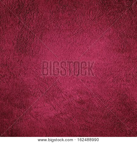 Abstract Grunge Decorative Pale Red Crimson Stucco Wall Background. Vintage Rough Stylized Valentines Christmas Texture Banner. Square Background With Space For Text