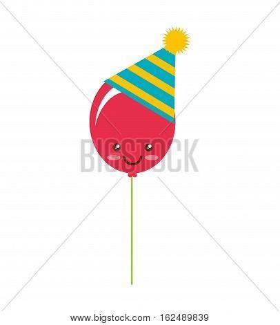 party balloon isolated icon vector illustration design