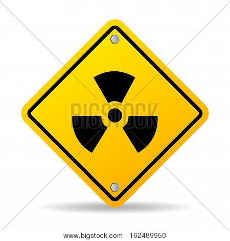 Radioactive danger sign vector illustration isolated on white background