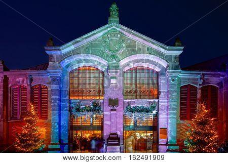 Wonderful Christmas Highlighting In Colmar, Alsace, France