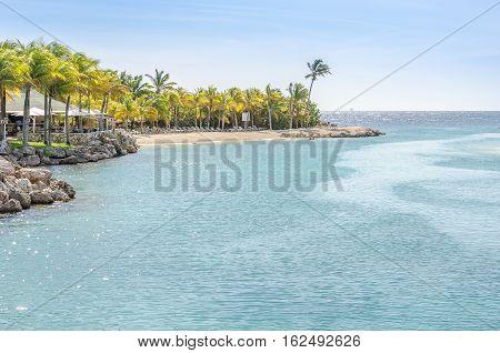 Canal Near The Curacao Sea Aquarium Entrance And Dolphin Academy