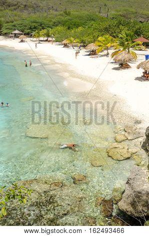 The Beautiful Grand Knip Beach In The Caribbean