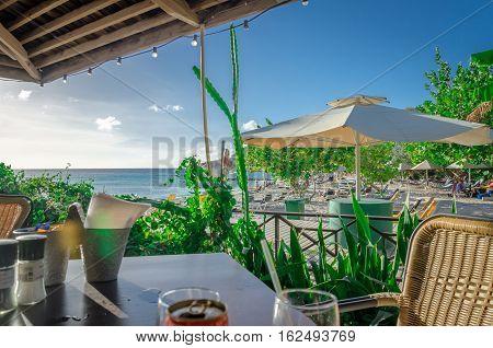 Curacao Porto Mari Beach Sunset, Late Afternoon