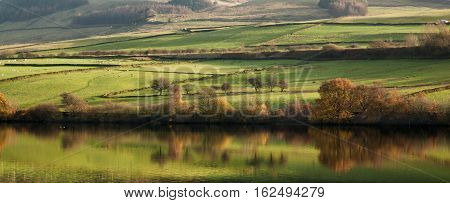 The Peak District is an upland area in England where most of the moorland is found.