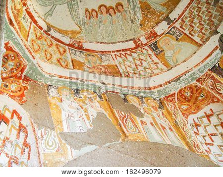 Fresco In Church In Goreme Valley, Cappadocia