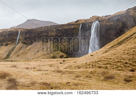 Seljalandsfoss, one of the great waterfalls in South Iceland