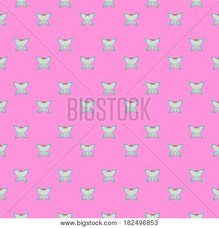 a seamless pink pattern decorated with tosca butterflies