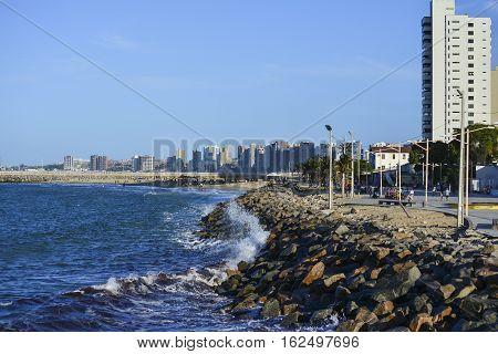 Praia de Iracema beach, Fortaleza, Ceara, Brazil