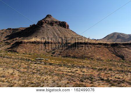 Historic Homer Wilson Ranch Landscape in Big Bend National Park, Texas