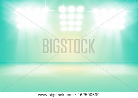 3D illustration background / Abstract green empty room studio gradient used for background and display your product