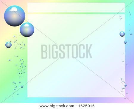 Scrapbook Page Layout - Bubbles Against A Rainbow Gradient Background