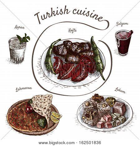 menu turkey colorful vector photo free trial bigstock