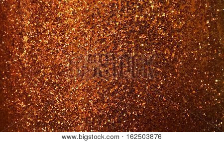 dark gold copper glitter texture background for design