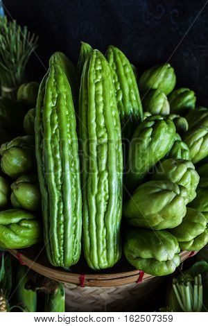 Momordica Charantia Often Called Bitter Melon Bitter Gourd Or Bitter Squash In English Has Many Othe