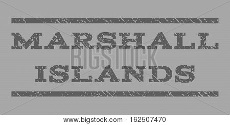 Marshall Islands watermark stamp. Text caption between horizontal parallel lines with grunge design style. Rubber seal stamp with dirty texture.