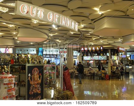 MUMBAI, INDIA - DEC 4: Chhatrapati Shivaji International Airport in Mumbai, India, as seen on Dec 4, 2016. It is the second busiest airport in the country in terms of passenger traffic and international traffic after Delhi.