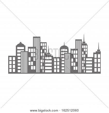 City urban view icon vector illustration graphic