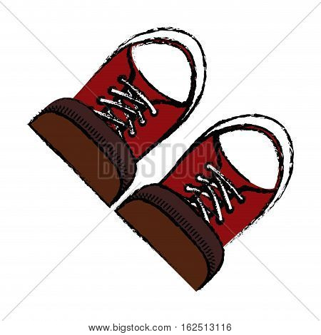 Classic sneakers footwear icon vector illustration graphic