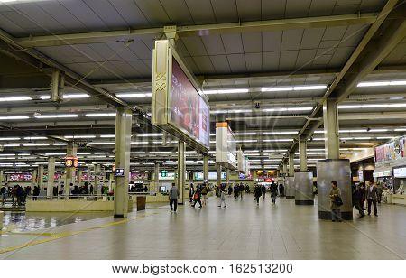 People At Osaka Hankyu Umeda Station